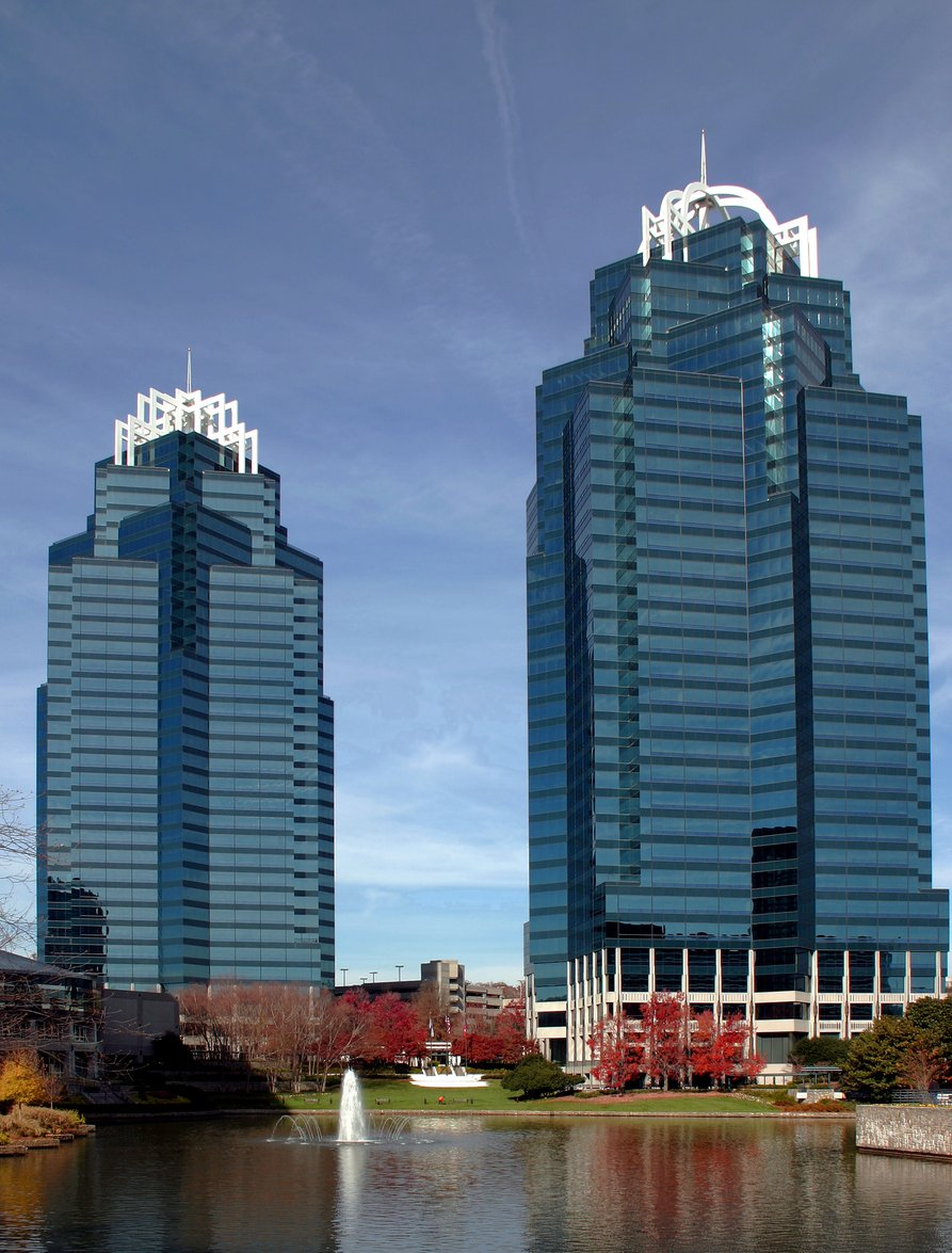 The King and Queen buildings in Atlanta